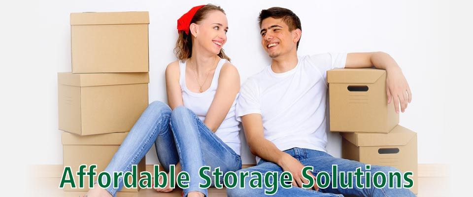 Affordable Storage Solutions | couple packing